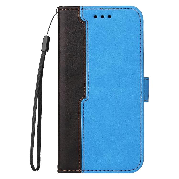 Чехол-книжка Business Stitching-Color для iPhone 13 Pro Max - синий