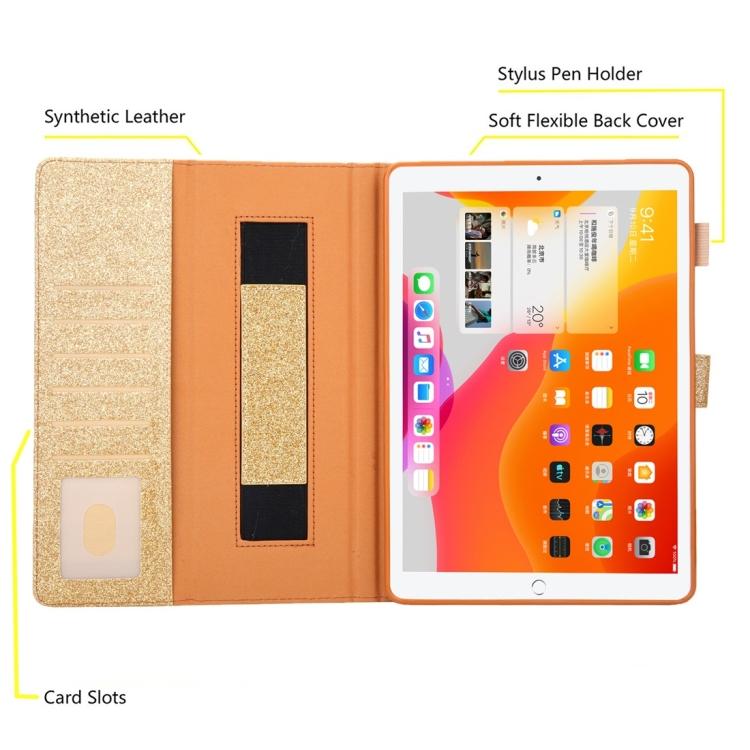 Защитный чехол-книжка с слотами под кредитки золотого цвета на Айпад Мини 5