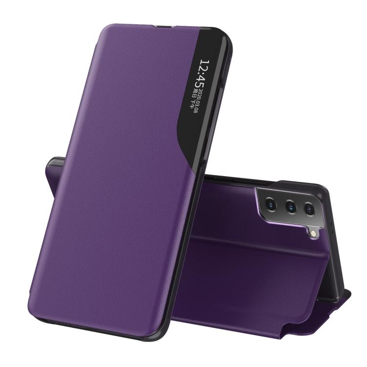 Чехол-книжка Clear View Standing Cover на Samsung Galaxy S21 FE - фиолетовый