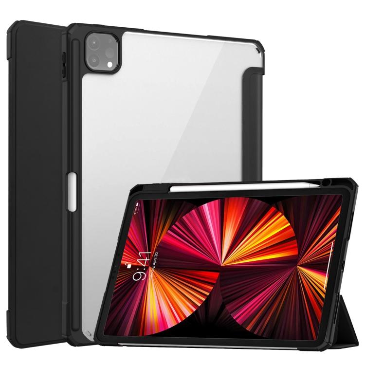 Чехол-книжка Transparent Acrylic для iPad Air 2020/Pro 11 (2021/2020/2018) - черный
