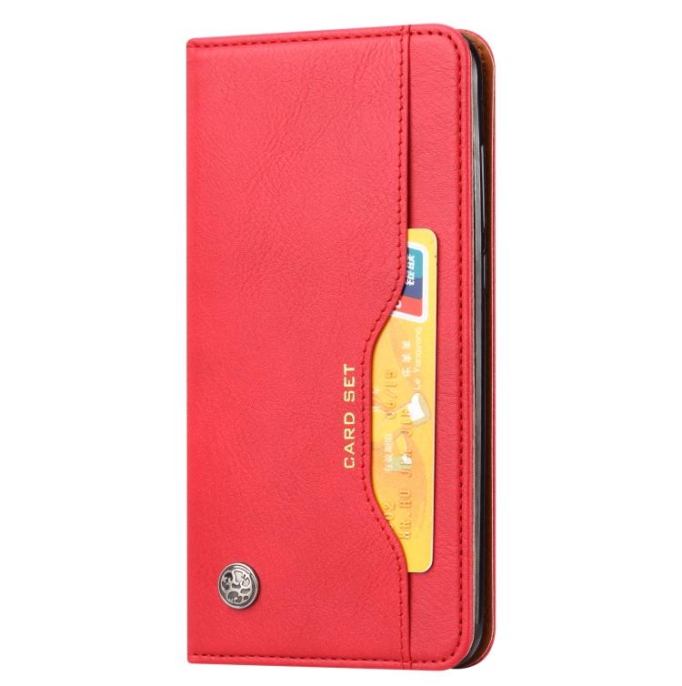 Чехол-книжка Knead Skin Texture на Samsung Galaxy M51 - красный