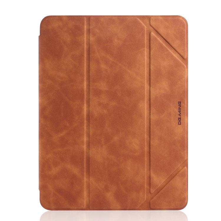 Кожаный коричневый чехол-книжка для Айпад 7 10.2