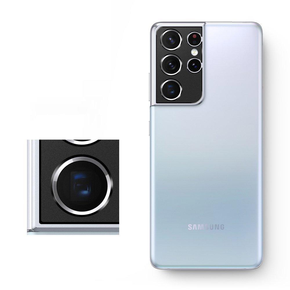 Защитное стекло на камеру для Галакси S21 Ультра black