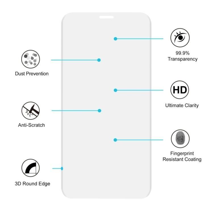Защитное 3D стекло на Айфон 11 Pro/X/Xs 0.26mm 9H Surface Hardness 3D прозрачное
