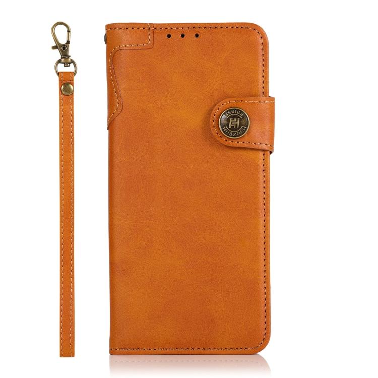 Чехол-книжка KHAZNEH Dual-Splicing для Xiaomi Redmi Note 10 Pro - оранжевый