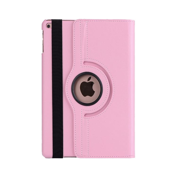 Кожаный Чехол 360 Degree Litchi Texture на Айпад Мини 5 (2019/Мини 4) -розовый