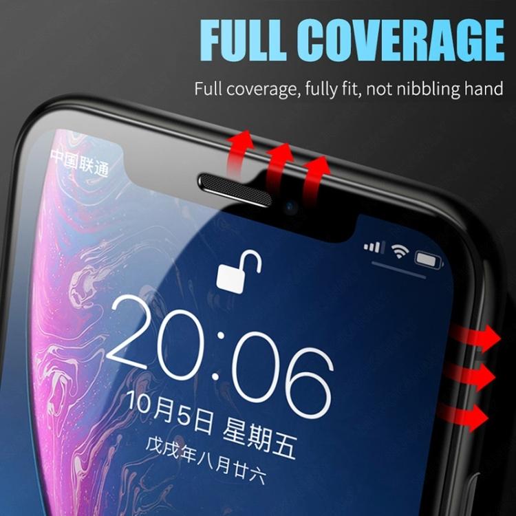 Защитное гибкое стекло 3D Full Glue Full For Samsung Galaxy A21s 2.5D Full Glue Full - прозрачно-черное