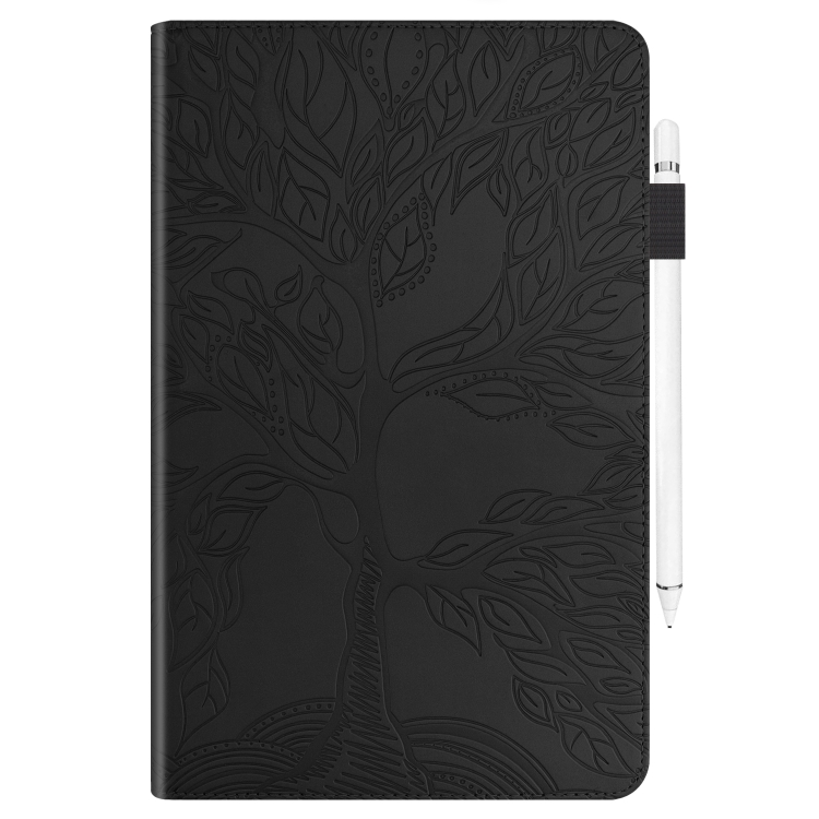 Кожаный чехол-книжка черного цвета для Айпад 9.7