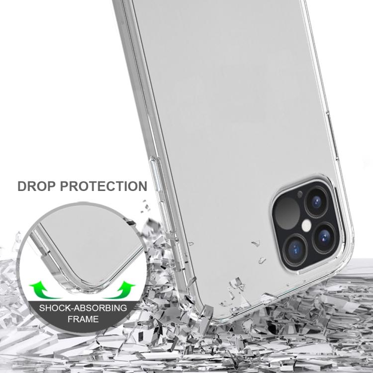 Акриловый противоударный чехол HMC на iPhone 12/12 Pro - зеленый