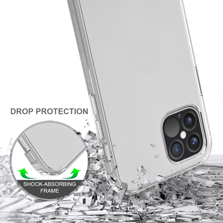 Прозрачный чехол накладка с усиленными углами для Айфон 12