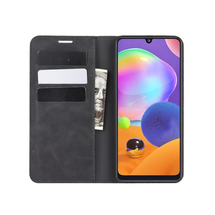 Чехол- книжка Retro Skin Feel Business Magnetic на Samsung Galaxy A31 - черный