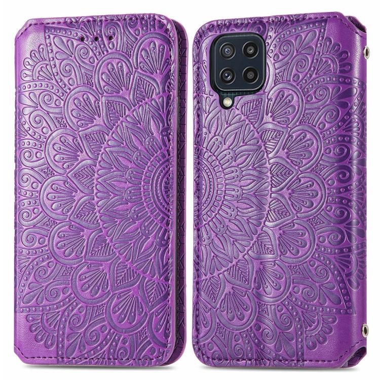 Чехол-книжка Blooming Mandala для Samsung Galaxy M32 - фиолетовый