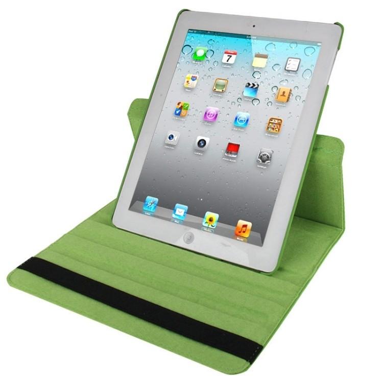 Кожаный Чехол 360 Degree Sleep / Wake-up зеленый для iPad 4/ 3/ 2