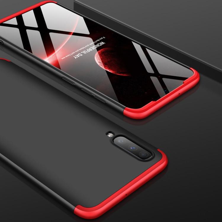 Черно-красный тонкий чехол для Самсунг Галакси А70