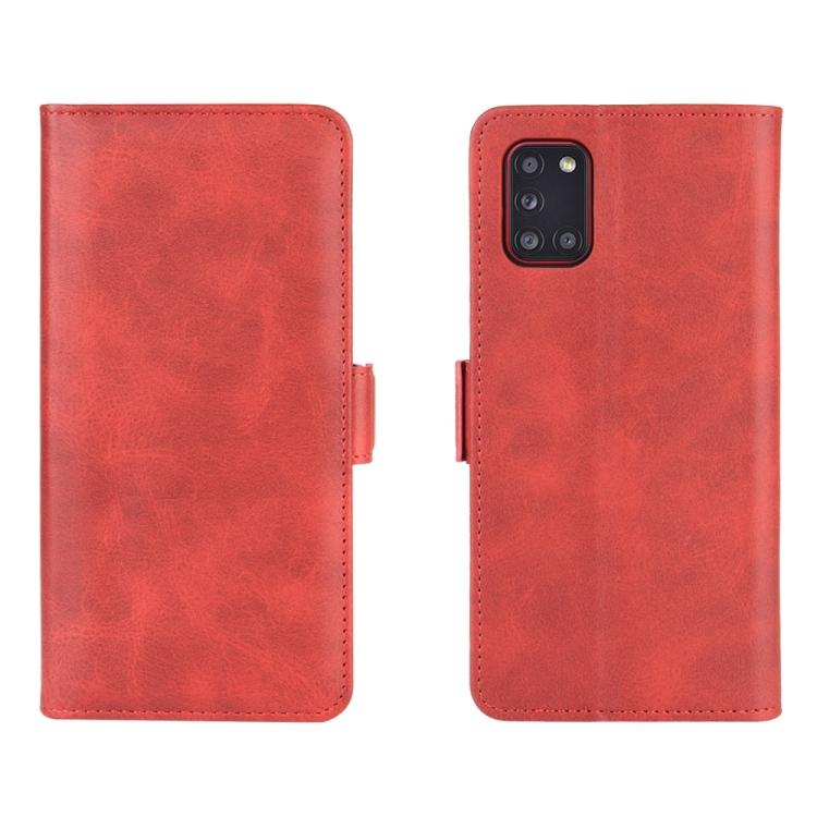 Чехол-книжка Dual-side Magnetic Buckle для Samsung Galaxy A31 - красный