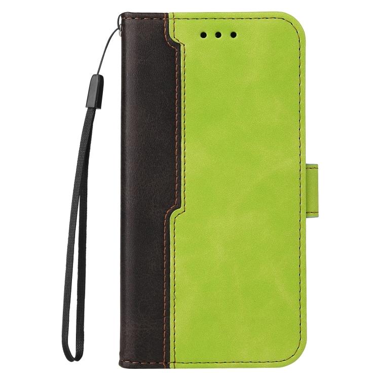 Чехол-книжка Business Stitching-Color для Samsung Galaxy S21 FE - зеленый