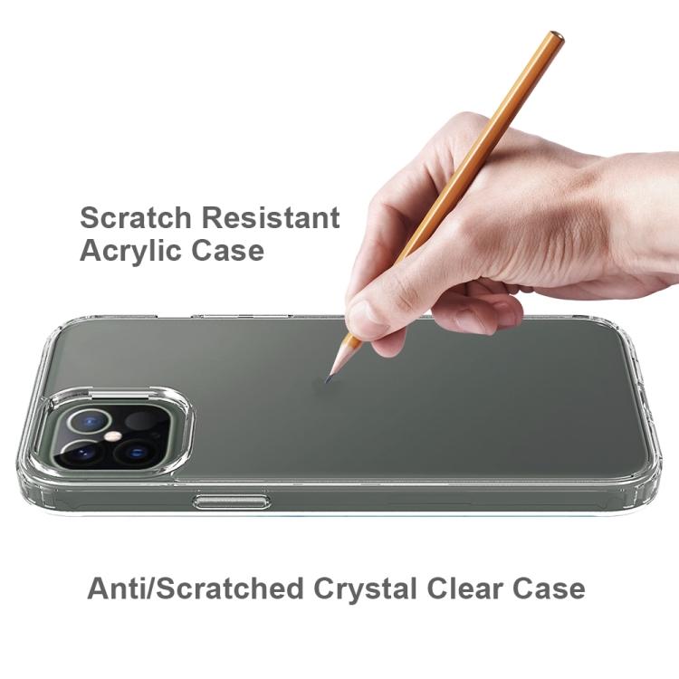 Акриловый противоударный чехол на Айфон 12 Pro Max - прозрачный