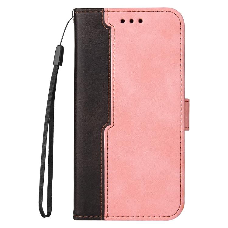 Чехол-книжка Business Stitching-Color для iPhone 13 - розовый