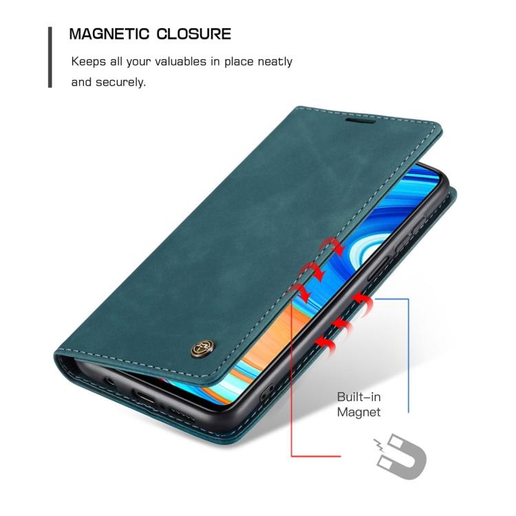 Кожаный чехол-книжка на Xiaomi Redmi 10X/Note 9