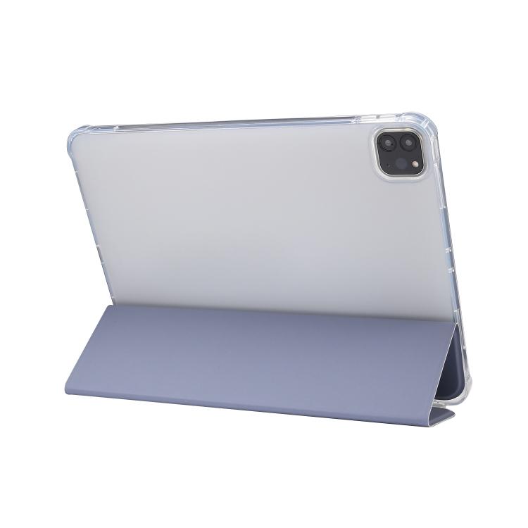 Чехол-книжка 3-folding Electric Pressed  для Айпад Про 11 2021/2020/2018 Эйр 2020 - голубой