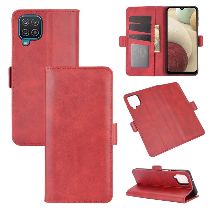 Красный чехол-книжка для Самсунг Гелекси А12