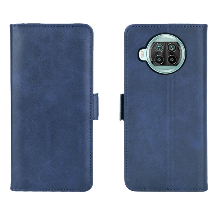 Защитный ударостойкий чехол-книжка синего цвета на Сяоми Ми 10Т Лайт