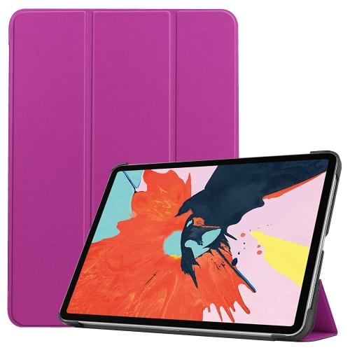 Чехол Custer Texture Three-folding Sleep/Wake-up на iPad Air 10.9 2020 - фиолетовый