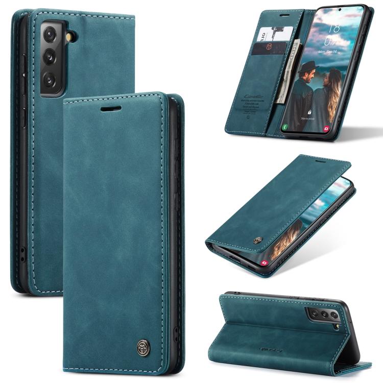 Чехол-книжка CaseMe 013 Series для Samsung Galaxy S21 FE - синий
