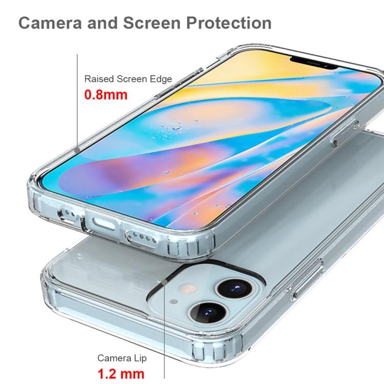Акриловый прозрачно розовый противоударный чехол HMC на Айфон  12 Mini с амортизацией углов