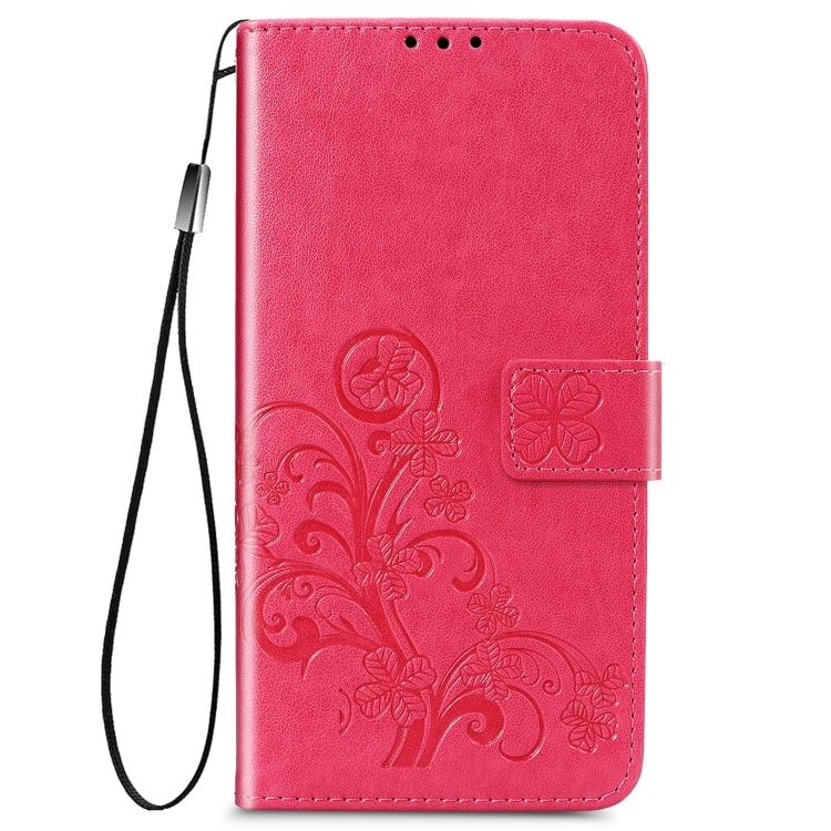 Красный чехол-книжка Four-leaf  на Samsung Galaxy S21 Ultra