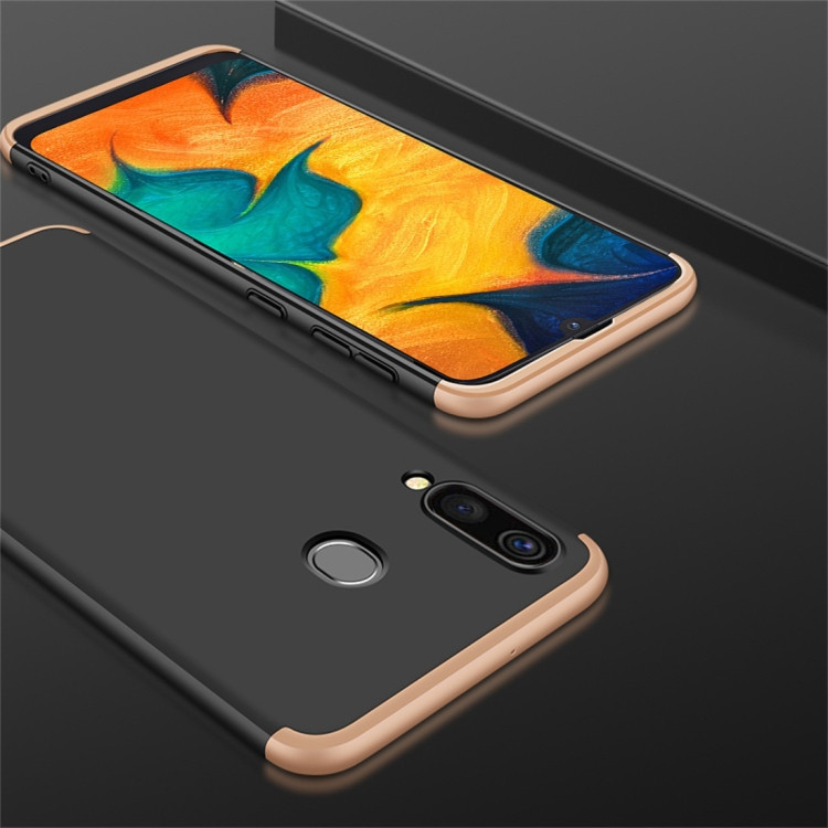 3D чехол GKK Three Stage Splicing Full Coverage   для  Samsung Galaxy A20 / A30- черный, золотой