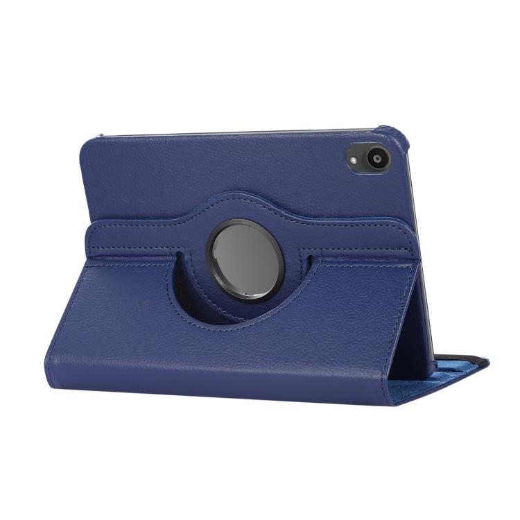 Синий кожаный чехол-книжка со складывающейся подставкой на Айпад Мини 6 2021