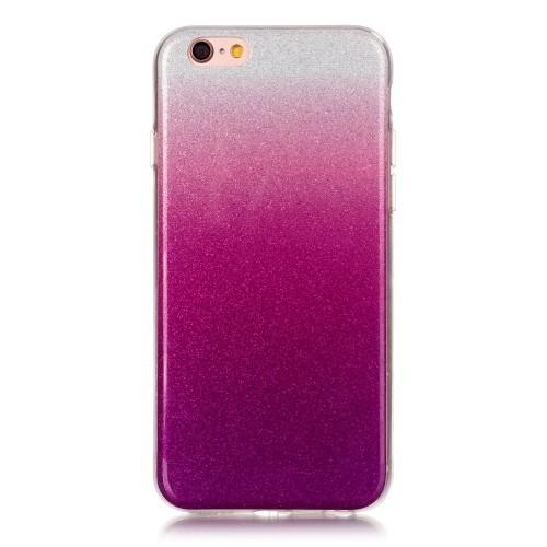 Силиконовый чехол на Айфон 6/ 6s градиент с блестками