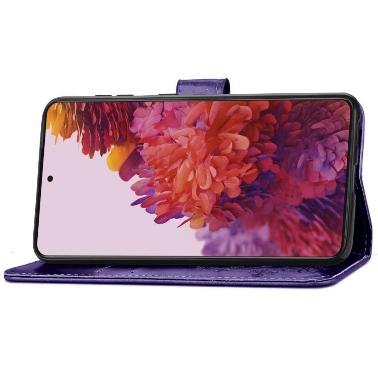 Фиолетовый чехол-книжка с подставкой для Самсунг С21 Ультра