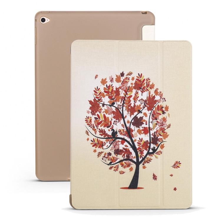Чехол- книжка Maple Pattern силиконовый держатель на iPad Mini 5 (2019)/ Mini 4 - бежевый
