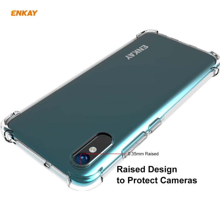 Защитный чехол ENKAY Clear + стекло на Ксяоми Редми 9A - прозрачный
