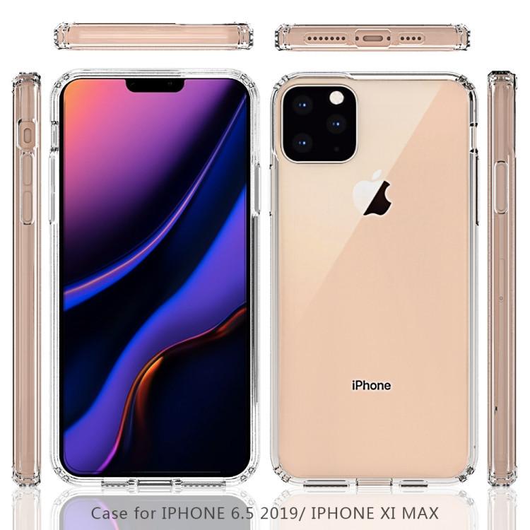 Акриловый чехол с антицарапающимся покрытием для Айфон 11 Про Макс- прозрачный