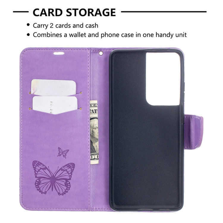 Чехол-книжка Butterflies для Samsung Galaxy S21 Ultra