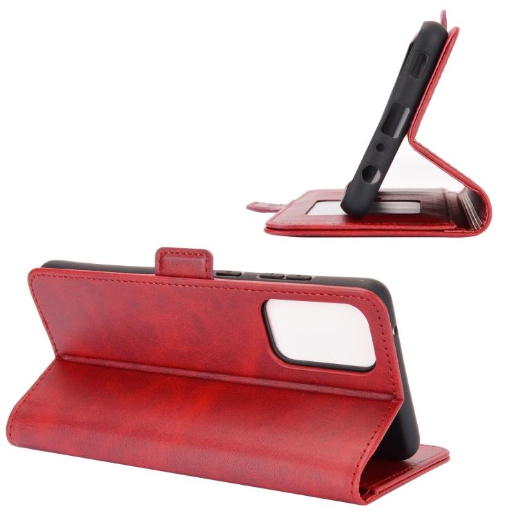 Красный чехол-книжка с складной подставкой для Самсунг Гелекси А72