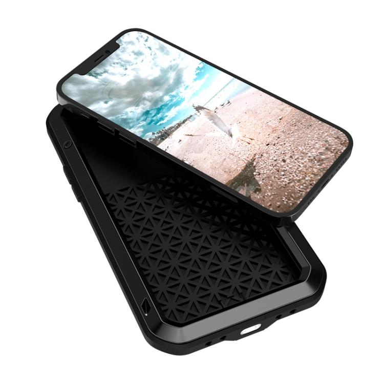 Влагозащитный противоударный чехол для Айфон 12 Про - черный