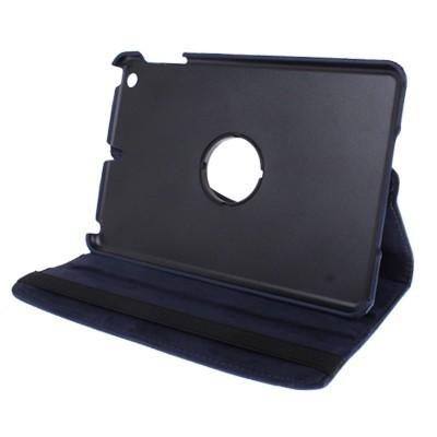 Кожаный Чехол 360 с кпрутящимся элементом темно-синий на Айпад мини 1 / 2 / 3