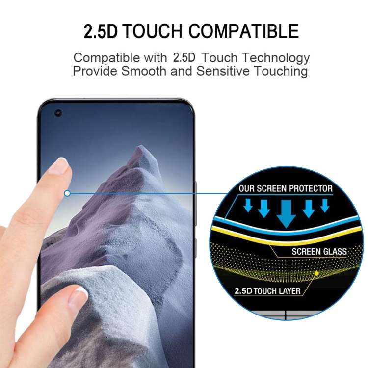 Защитное стекло 9H HD 3D Curved Edge (Full Glue) для Xiaomi Mi 11 Ultra - черное