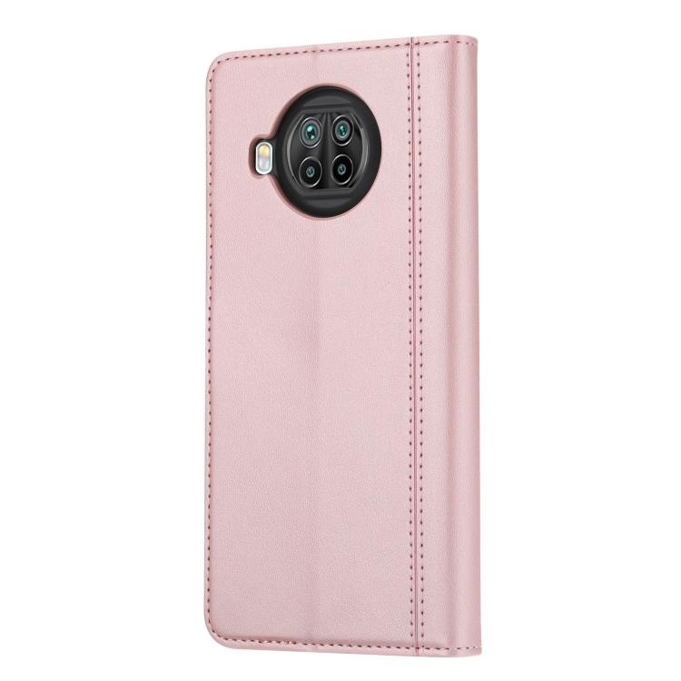 Розовый чехол-книжка с слотами под кредитки на Сяоми Ми 10Т Лайт