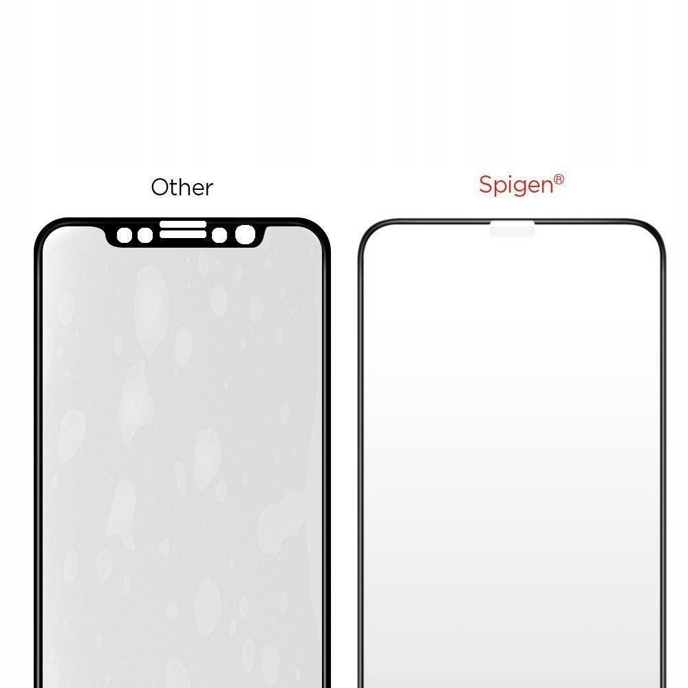 Каленое стекло Spigen Fc на IPhone 11/Xr Black