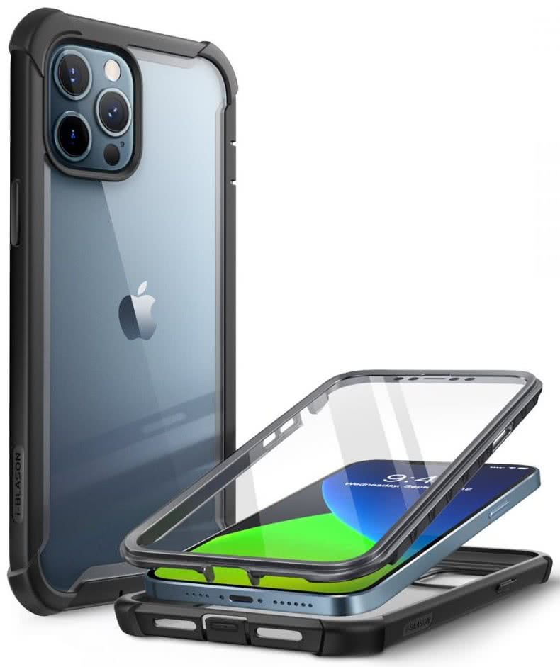 Двухсторонний чехол Supcase Iblsn Ares для iPhone 12 Pro / iPhone 12 Black