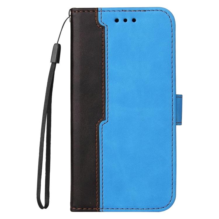 Чехол-книжка Business Stitching-Color для Samsung Galaxy S21 FE - синий