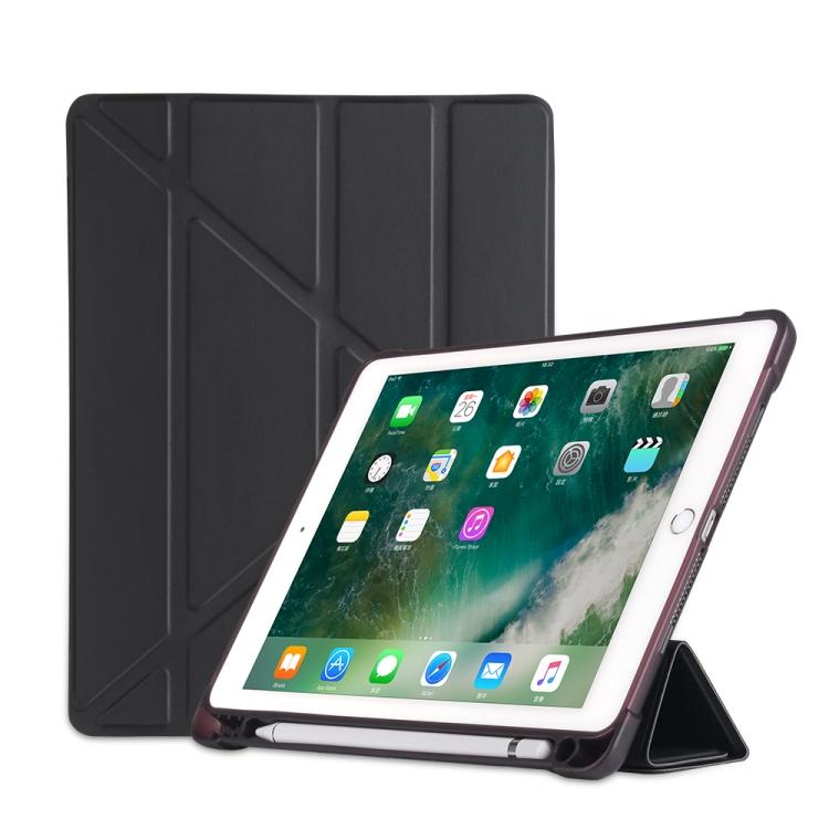 Чехол- книжка Multi-folding для iPad 9.7 (2018) / 9.7 (2017) / air / air2 - черный