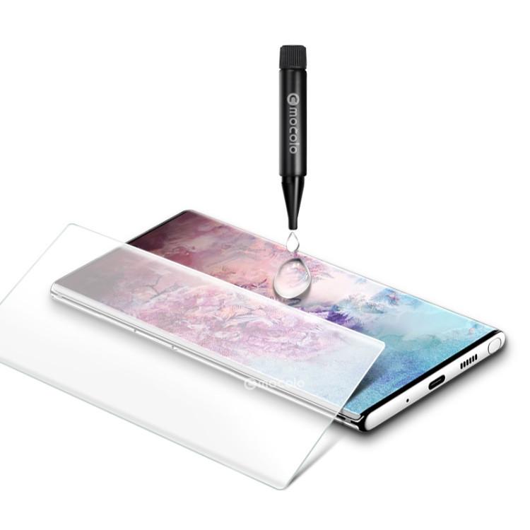 Защитное 3D стекло с поддержкой отпечатка с УФ лампой Mocolo 9H 3D Full Screen UV для Samsung Galaxy Note 10+Plus