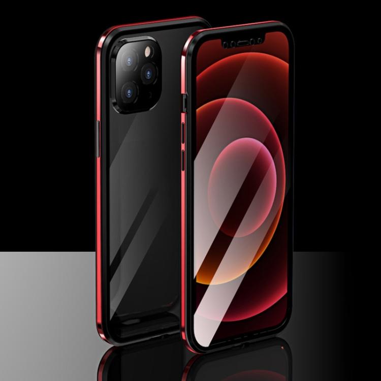 Магнитный красный чехол для Айфон 12