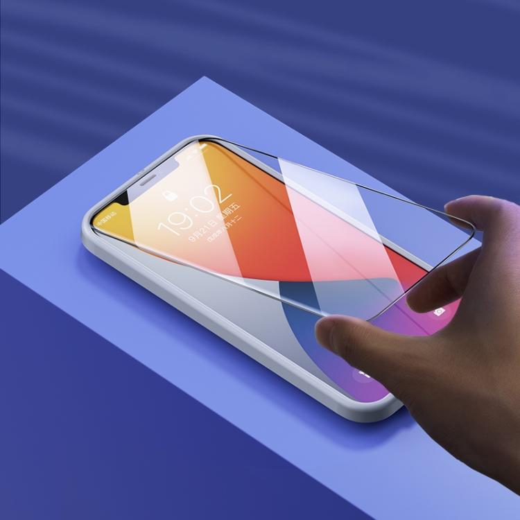 Защитное стекло на Айфон 12 Pro Max - прозрачно-черное